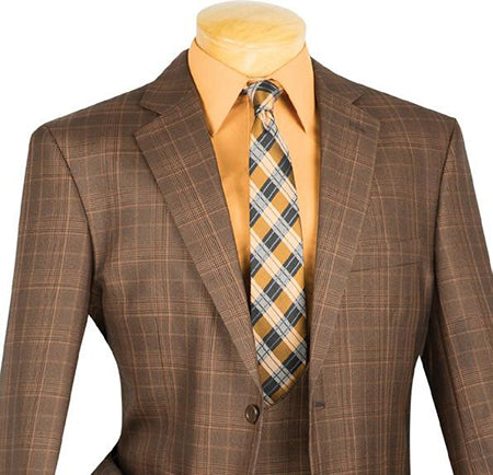 Renaissance Collection - Regular Fit 3 Piece Suit Chestnut - Mens Suits