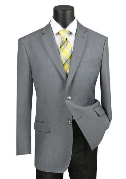 Velvet Regular Fit Blazer 2 Button in Gray
