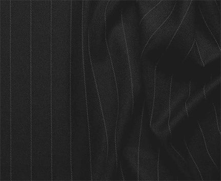Sovana Collection - Regular Fit 3 Piece Suit 2 Button Tone on Tone Stripe in Black