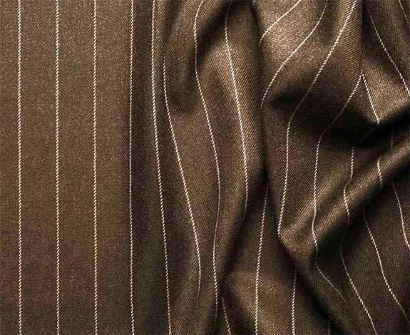 Rockefeller Collection - Double Breasted Stripe Suit Brown Regular Fit 2 Piece - SUITS FOR MENS