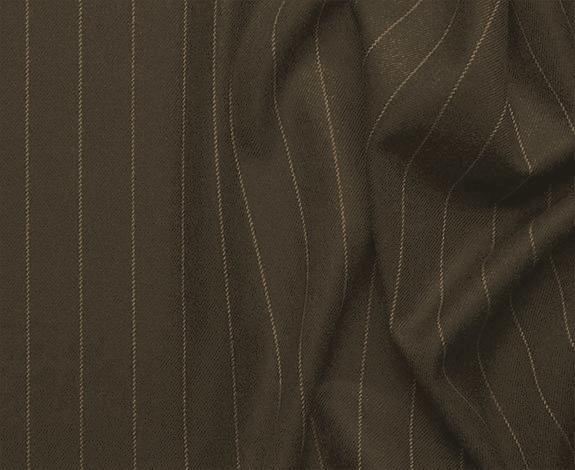 Sovana Collection - Regular Fit 3 Piece Suit 2 Button Tone on Tone Stripe in Brown - SUITS FOR MENS