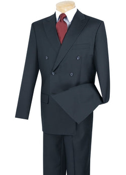 Ramses Collection - Double Breasted Suit 2 Piece Regular Fit in Navy - SUITS FOR MENS