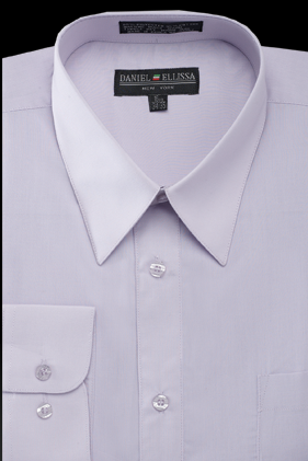 Basic Dress Shirt Regular Fit in Lilac - SUITS OUTLETS
