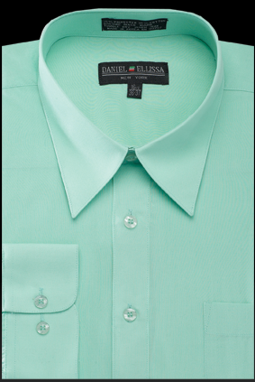 Basic Dress Shirt Regular Fit in Mint - Mens Suits