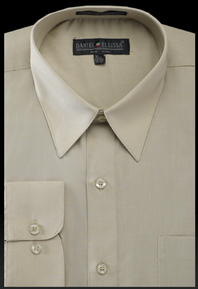 Basic Dress Shirt Regular Fit in Olive - SUITS FOR MENS