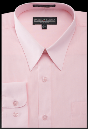 Basic Dress Shirt Regular Fit in Pink - SUITS FOR MENS