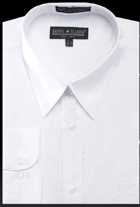 Basic Dress Shirt Regular Fit in White - Mens Suits