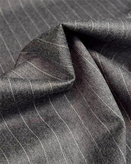 Sovana Collection - Regular Fit 3 Piece Suit 2 Button Tone on Tone Stripe in Gray - SUITS FOR MENS