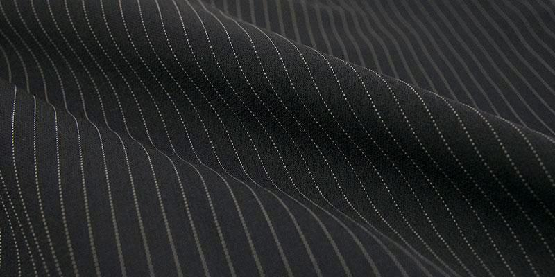 Classic Fit 2 Buttons Design Pinstripe Suit Black - SUITS OUTLETS