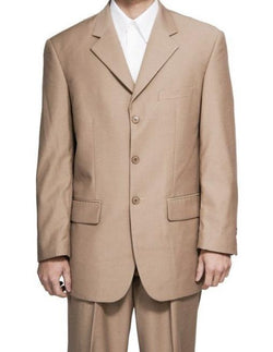 Lucci Khaki Suit Men's Classic Fit Three Button Design - SUITS OUTLETS