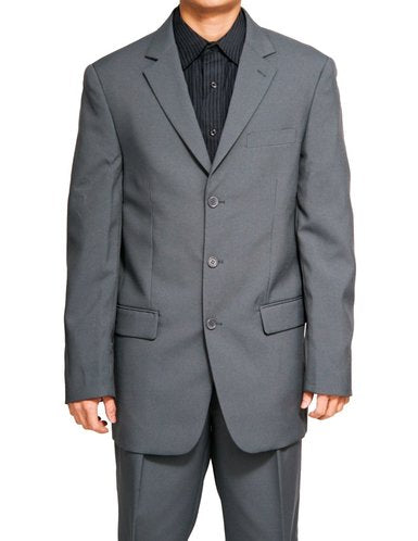 Mont Blanc Collection - Regular Fit Suit 3 Button 2 Piece in Gray - SUITS FOR MENS