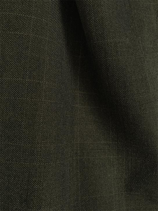 Olympia Collection - Glen Plaid Regular Fit Suit 3 Piece Olive - SUITS FOR MENS