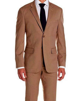 Regular Fit Suit 2 Piece 2 Button in Brick - SUITS FOR MENS