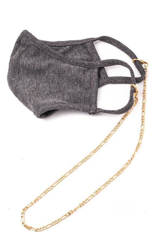 Figaro Chain Mask Necklace