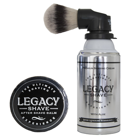 legacy shave brush w shave cream