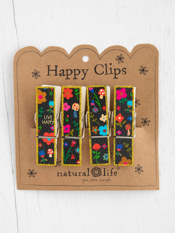 Happy Clip Live Happy Floral