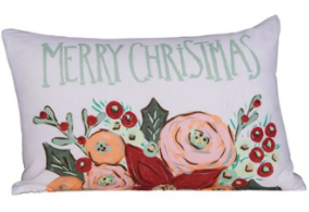 Merry Christmas Cotton Pillow