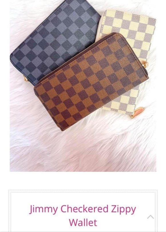 Jimmy Checkered Zippy Wallet