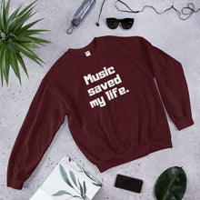 Music Saved My Life Crewneck Pullover