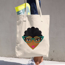 afro natural hair tote bag