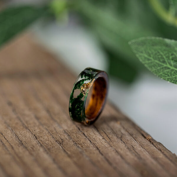 Product Exchange Page for - Green Moss Handmade Wood and Resin Ring