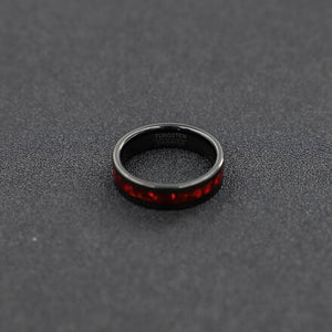 High Polish Red Tungsten Carbide Ring