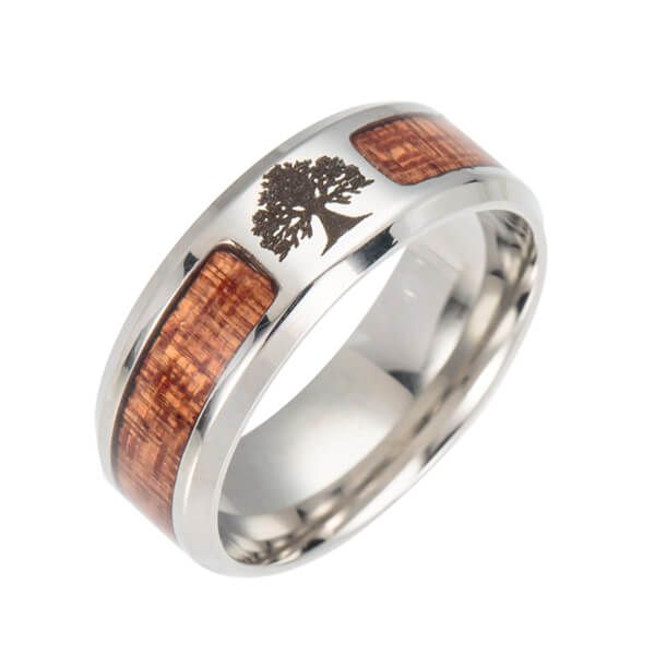 Graphic Wood Ring