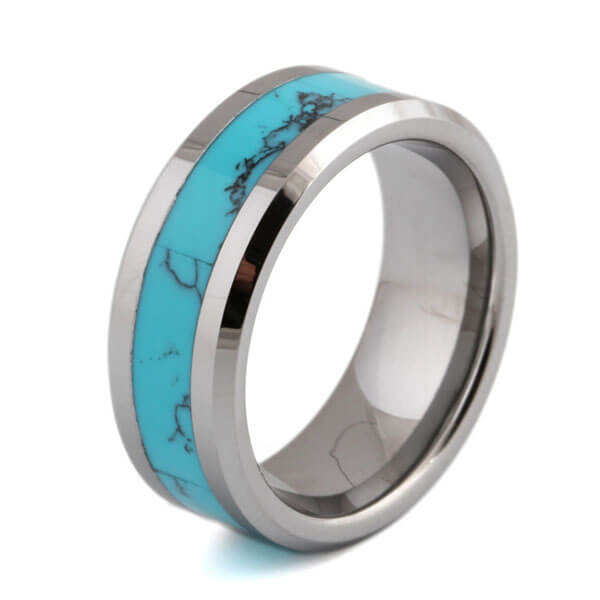 Product Exchange Page for Blue Marble Tungsten Carbide Ring