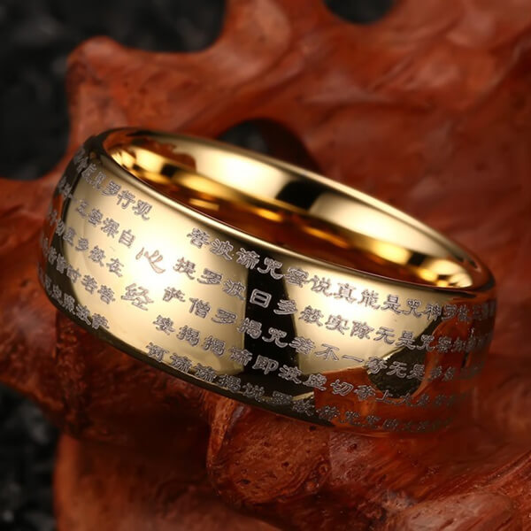 Product Exchange page for -  Buddhist Prayer Texts Tungsten Ring