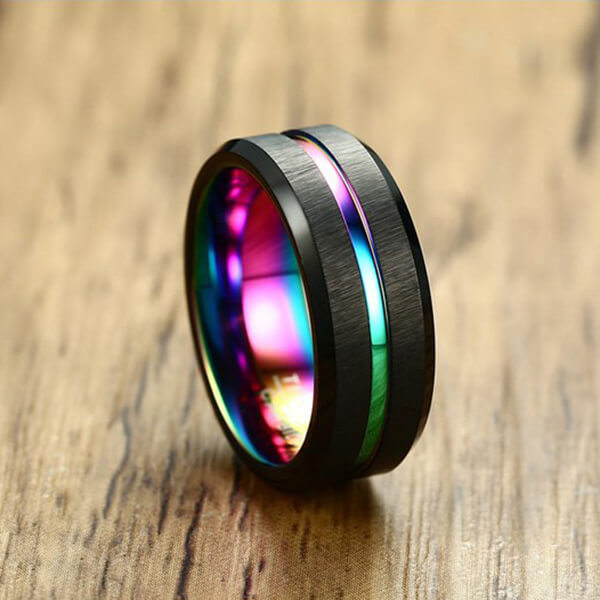 Product Exchange Page for Rainbow Carbon Fiber Tungsten Ring