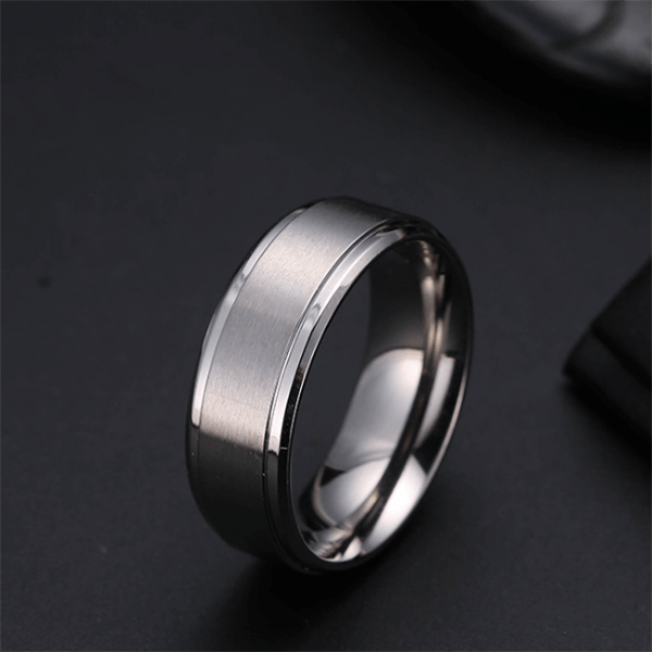 Product Exchange Page for Brushed Silver Tungsten Ring