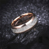 Product Exchange Page for Rose Gold Meteorite Inlay Ring