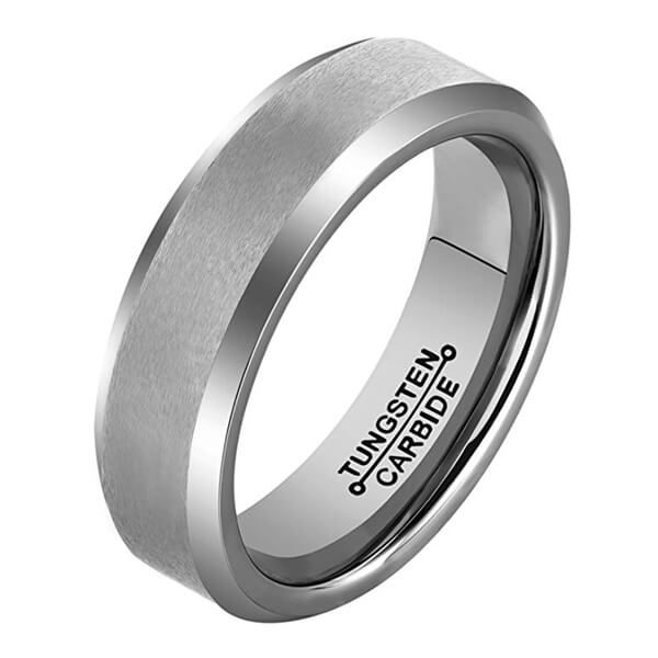 Product Exchange Page for Round Brushed Silver Tungsten Ring