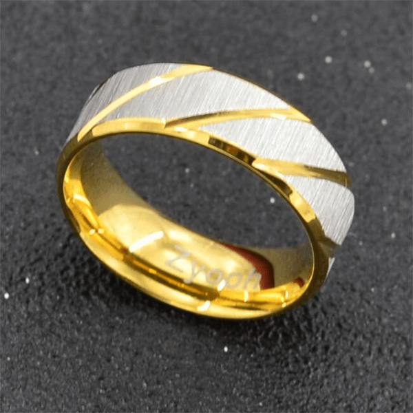 Gold/Blue Stainless Steel Ring