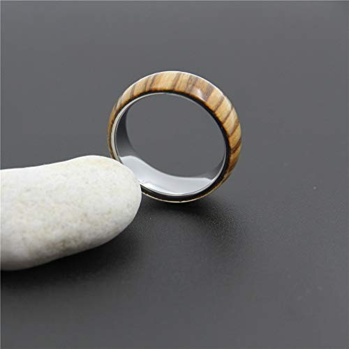 Brown Wood Tungsten Carbide Ring