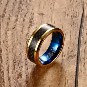 Chequered Color Tungsten Carbide Ring