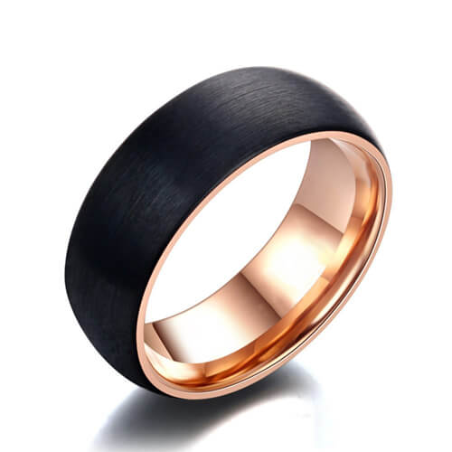 Product Exchange Page for Domed Brushed Rose Gold Ring