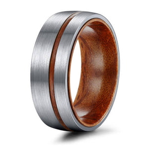 Brushed Matte Finish Tungsten Ring