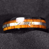Product Exchange for - Wood Abalone Inlay Tungsten Ring