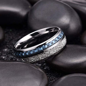Product Exchange Page for Blue Inlay Meteorite Ring