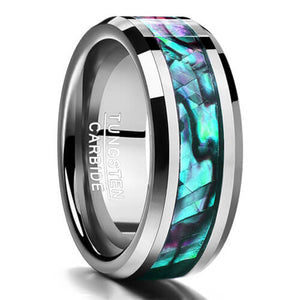 Product Exchange Page for Snakeskin Abalone Shell Tungsten Ring