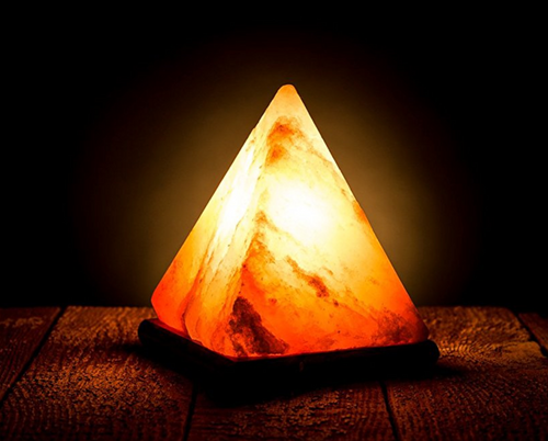 Wooden Base Himalayan Crystal Rock Salt Lamp Air Purifier Night Light FREE GLOBAL SHIPPING