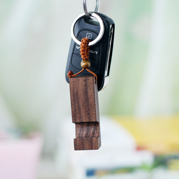 Wood Keyring/Phone Holder