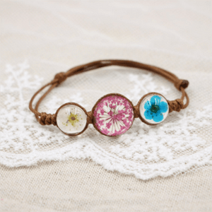 Dry Flower Glass Bracelet