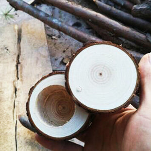 Wooden Log Ring Box