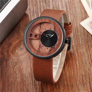 Carved Wood Hollow Watch