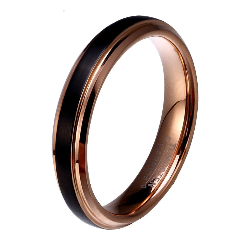 Dark Rose Gold Tungsten Ring
