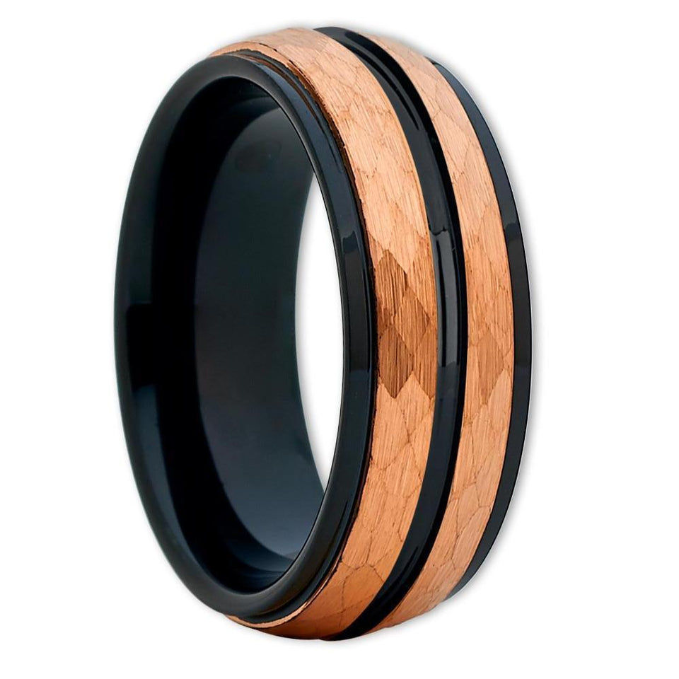 Brushed Wire Tungsten Ring