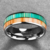 Double Koa Wood Color Ring