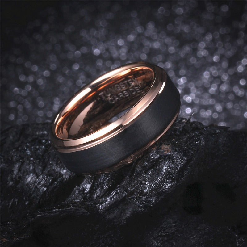 Product Exchange Page for - Dark Rose Gold Tungsten Ring